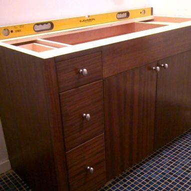 Custom Made Striped Mahogany Vanity