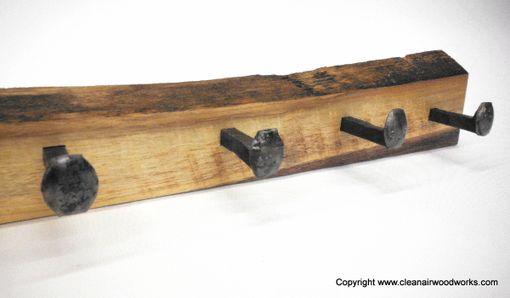 Buy A Hand Made Live Edge Antique Railroad Spike Coat Rack