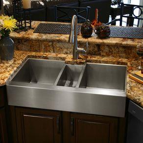 Custom sinks custommade custom stainless steel triple bowl sink by alex havens workwithnaturefo