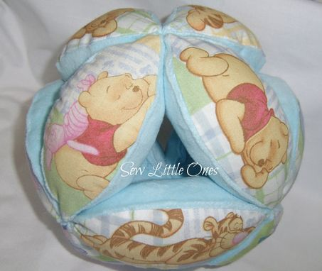 Custom Made Pooh Bear Personalize Baby Bottle Holder Ball