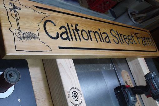 Custom Made Carved Business Signage