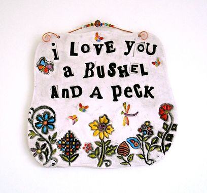 Custom Made Ceramic Pottery Personalized Custom Inspirational Words Quote Plaque
