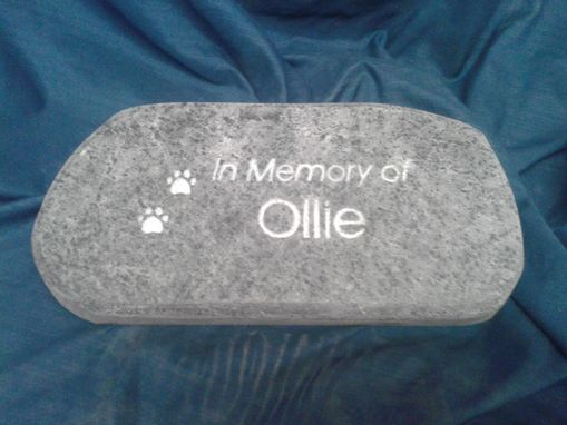 Custom Made Soapstone Pet Memorial