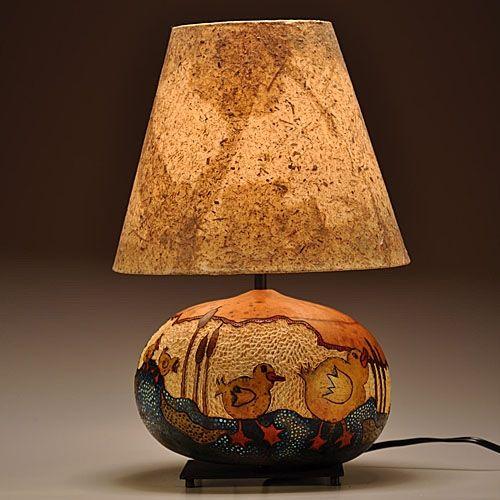 Painted Metal Lamp Shade