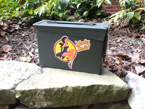 Custom Made Ammodor Ammo Can Cigar Humidor: Custom Painted/Stencil/Decal