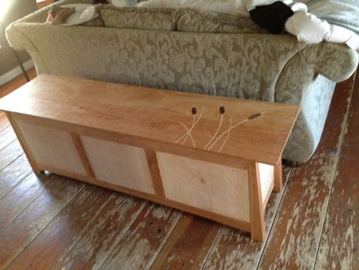 Custom Made Cherry And Maple Blanket Chest