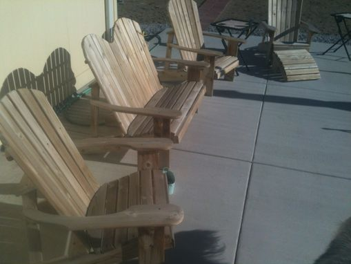 Custom Made Rustic Patio Furniture In The Traditional Adirondak Style