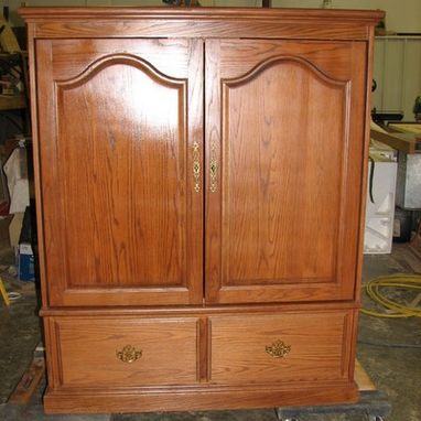 Custom Made Oak Entertainment Cabinet