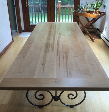 Custom Made Maple Tabletop With Breadboard Ends