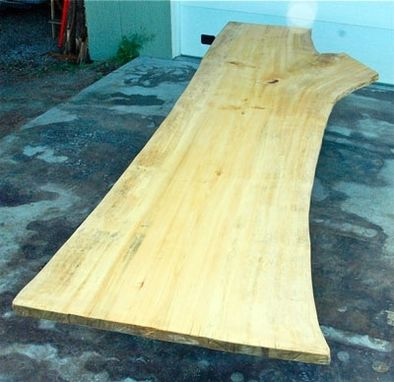 Custom Made 15.5' Ginko Single Slab Dining Or Conference Table