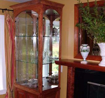 Custom Made Bubinga Display Cabinet