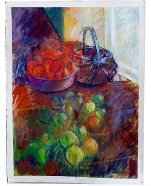 Custom Made Painting:  Red And Green Tomatoes, By Maggie Schmidt