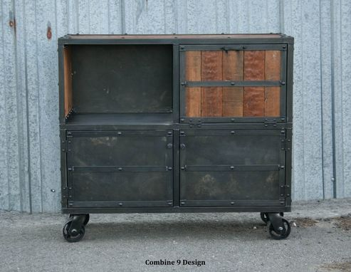 Custom Made Bar Cart/Liquor Cabinet. Vintage Industrial. Urban/Modern Design. Reclaimed Wood. Rustic. Distressed