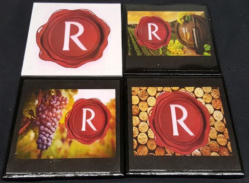 Custom Made Custom Made Ceramic Tile Coaster Set That We Made For Renault Winery