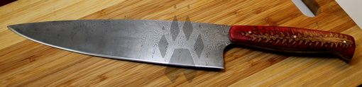 Custom Made Damascus Steel Chefs Knife
