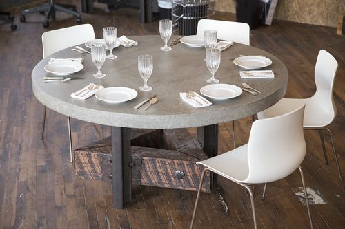 Custom Made Concrete Dining Room Table
