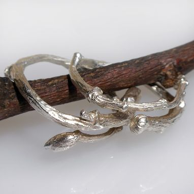 Custom Made Silver Or Gold Adjustable Branch Twig Ring - Stack Ring