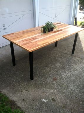 Custom Made Hardwood Flooring Table