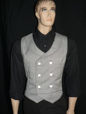 Custom Made Steampunk/Victorian Men's Houndstooth Vest