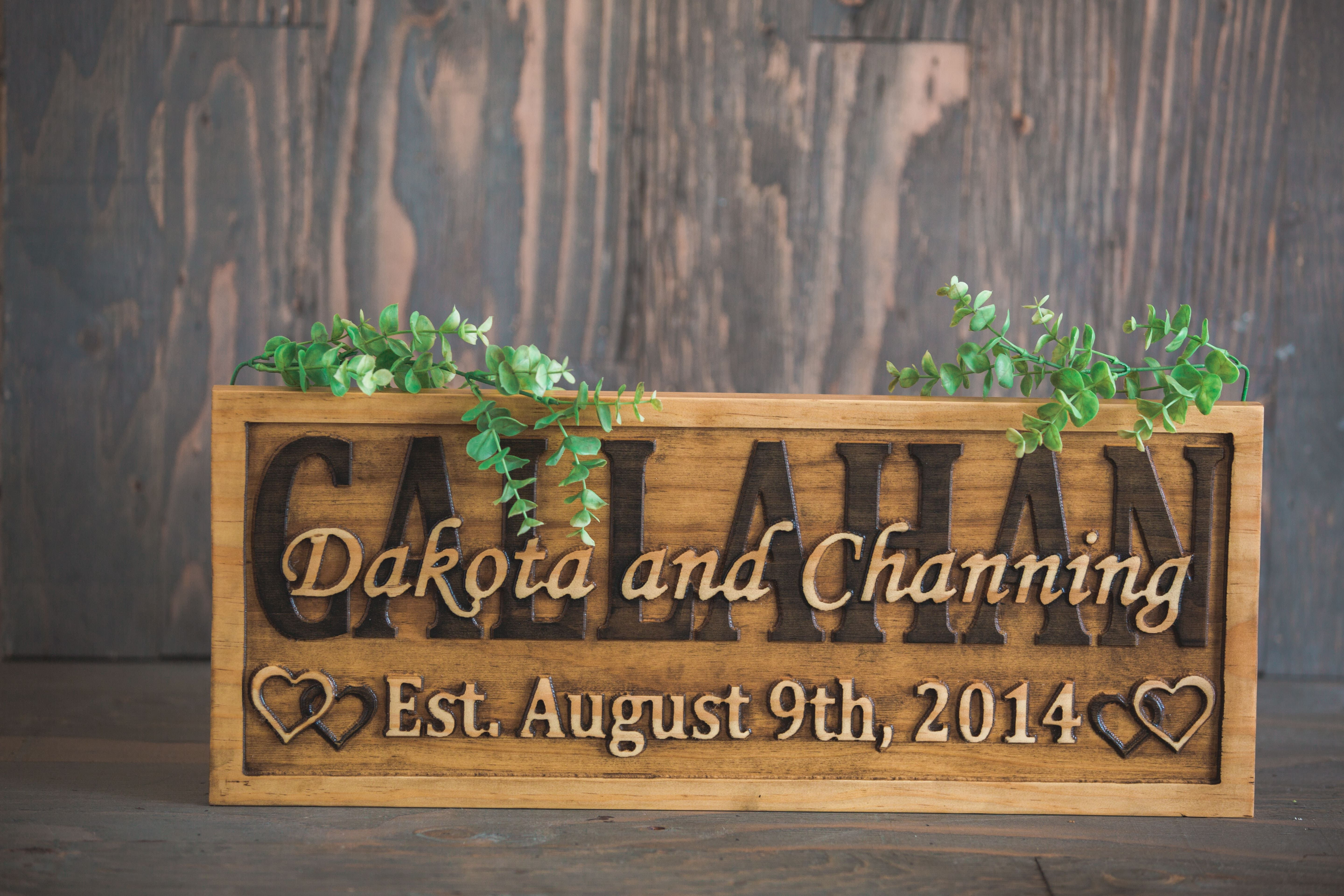 Buy a Custom Family Name Sign Wedding Name Sign Wedding Date Sign