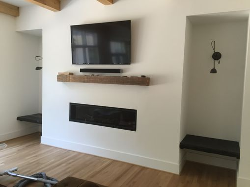 Custom Made Floating Shelves, Benches, And Mantel