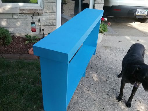 Custom Made Console Table Sofa Table Reclaimed Wood Country Blue Console