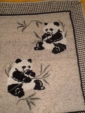 Custom Made Panda Afghan