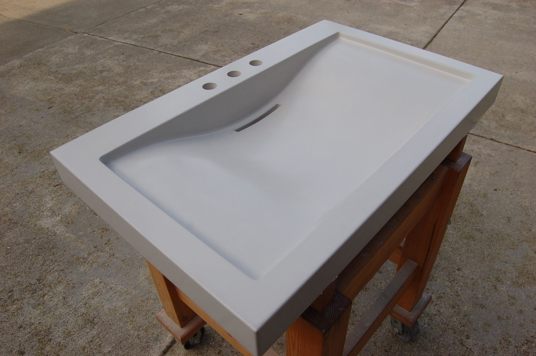 how to make a concrete kitchen sink handmade balboa concrete sink by agitated aggregate 9476