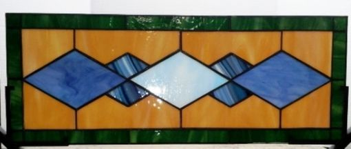 "Custom Made Stained Glass Panel -  ""Traditional Diamonds"" (P-29)"