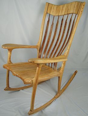 Custom Made Curly Ambrosia Maple Rocking Chair