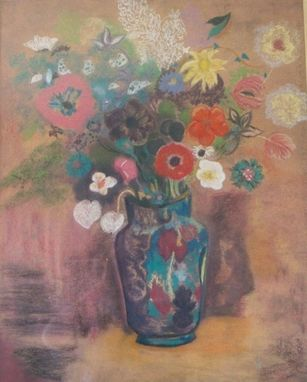 Custom Made Pastel Paintings, Graphics, Art On Vase