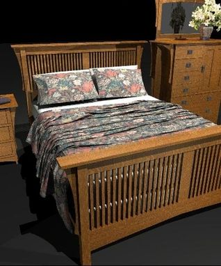 Custom Made Arts & Crafts Spindle Bed