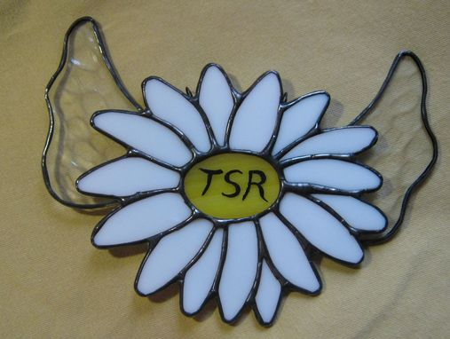 Custom Made Sun Catcher Daisy With Wings