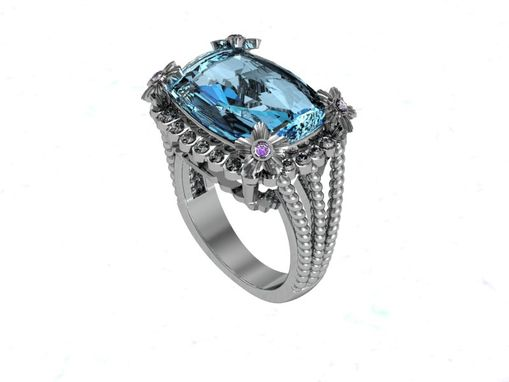 Custom Made Blue Topaz Ring
