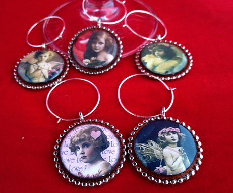 Custom Made Be My Valentine Wine Glass Charms