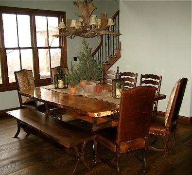 Custom Made Native Texas Woods Dining Table