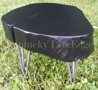 Custom Made Modern Wooden Stool, Side Table, End Table, Plant Stand, Log Round, Contemporary, Natural Edges