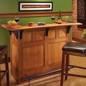 Arts And Crafts Style Bar By Edward Pask