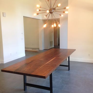 Custom Made Contemporary Solid Walnut Conference/ Dining Table