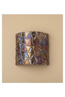 Custom Made Modern Glass Wall Sconce- Taupe