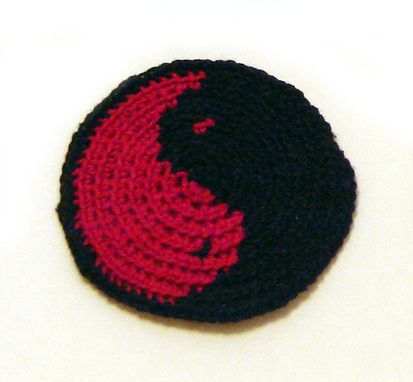 Custom Made Yin Yang Patch In Black And Red