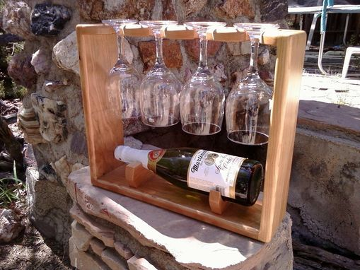 Custom Made Wine Bottle And Glass Display