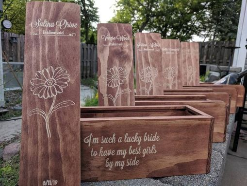 Custom Made 5x Wine Box Bridesmaids Gifts