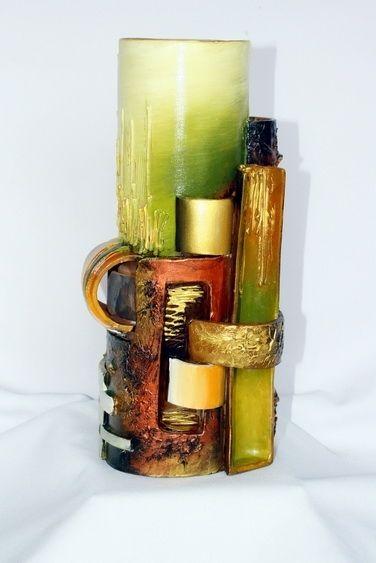 Custom Made Artistic Unique Handmade Ceramic Vase By Transylvania