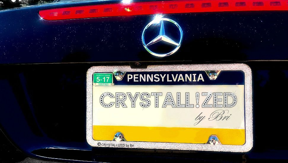Buy a Handmade Crystallized Bling License Plate Frame Made With ...