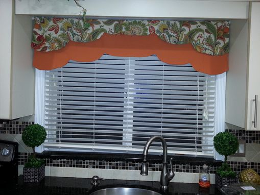 Custom Made Reversible Valance