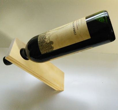 "Custom Made Balancing ""Magic"" Wine Bottle Holder"