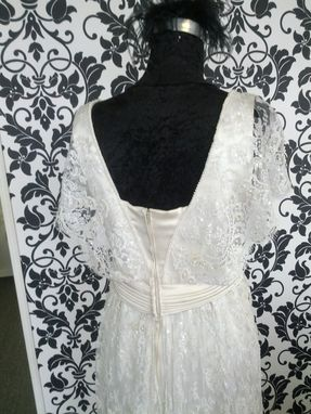 Custom Made Vintage Inspired Wedding Gown