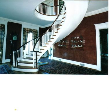 Custom Made Freestanding Elliptical Stairway
