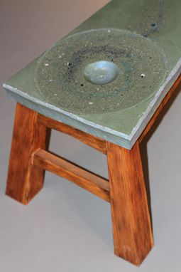 Custom Made Polished Concrete And Distressed Doug Fir Occasional Table